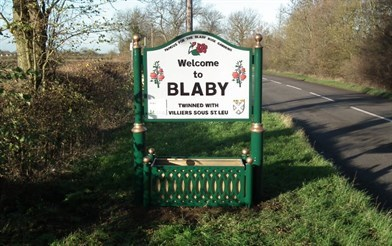 blaby village sign