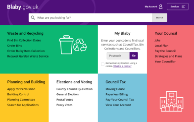 Blaby District Council website