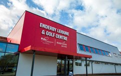 The exterior shot of Enderby Leisure Centre