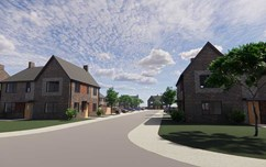 A shot of the Littlethorpe Homes Development
